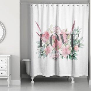 Fryda Love Botanicals Single Shower Curtain