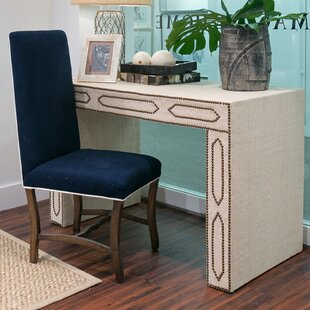 Raffia Solid Wood Writing Desk
