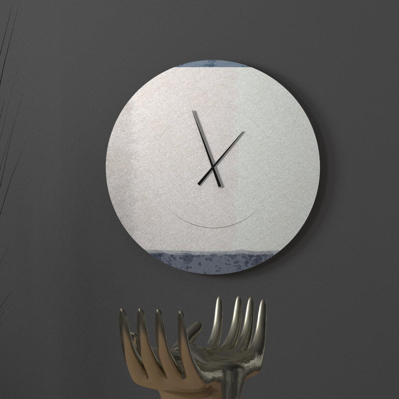Ebern Designs Contemplative Heart To Heart Abstract Metal Wall Clock Wayfair