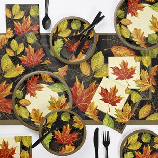 Eilish Thanksgiving 73 Piece Party Supplies Kit