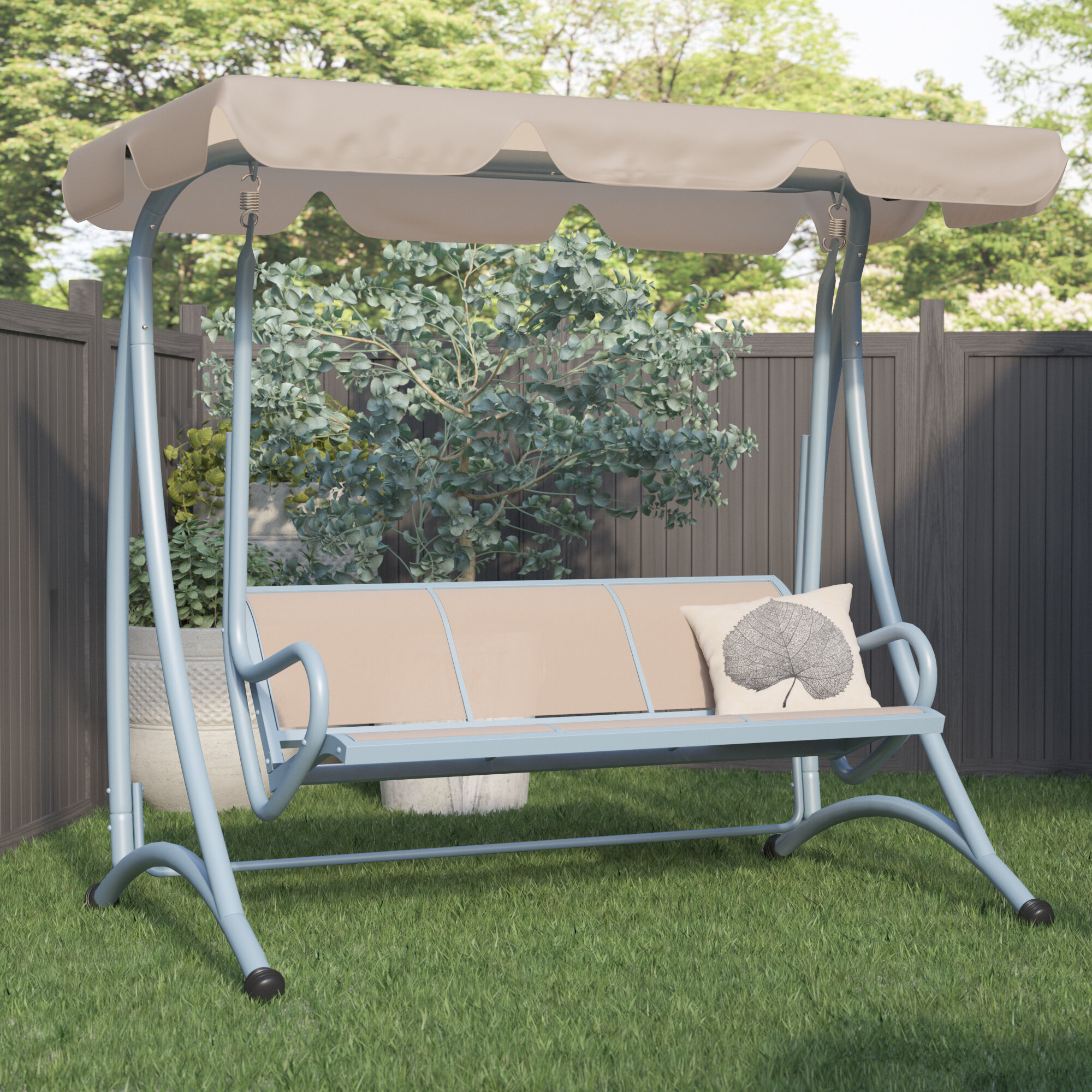 Charlton Home Northfield Patio Swing with Stand & Reviews