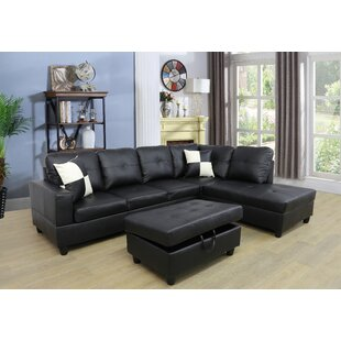 Caledian Sectional with Ottoman by Ebern Designs