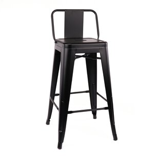 Affordable Despres Low Back Steel Counter 26 Bar Stool (Set of 4) by Williston Forge