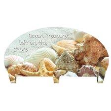 Seashells 3 Hook Coat Rack by Next Innovations