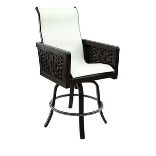 Spanish Bay Sling Swivel Patio Bar Stool by Leona