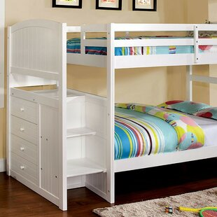 Bargain Farallones Twin over Twin Bunk Bed with Drawer by Harriet Bee Reviews (2019) & Buyer's Guide