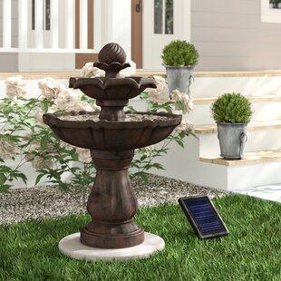 Malpelo Resin Solar 2 Tier On Demand Outdoor Water Fountain
