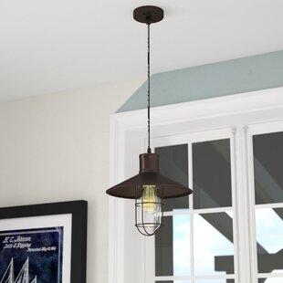 Beachcrest Home Armona 1-Light Cone Pendant