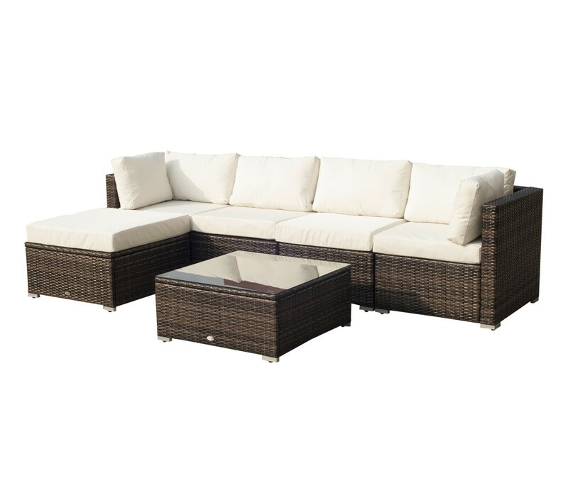 Serra 5 Seater Rattan Sofa Set
