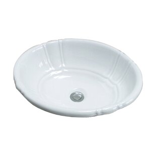 Top Brands of Lisbon Vitreous China Oval Drop-In Bathroom Sink with Overflow By Barclay