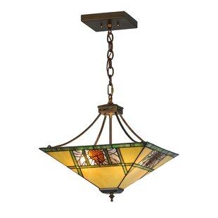 Pinecone Ridge 4-Light Bowl Pendant by Meyda Tiffany