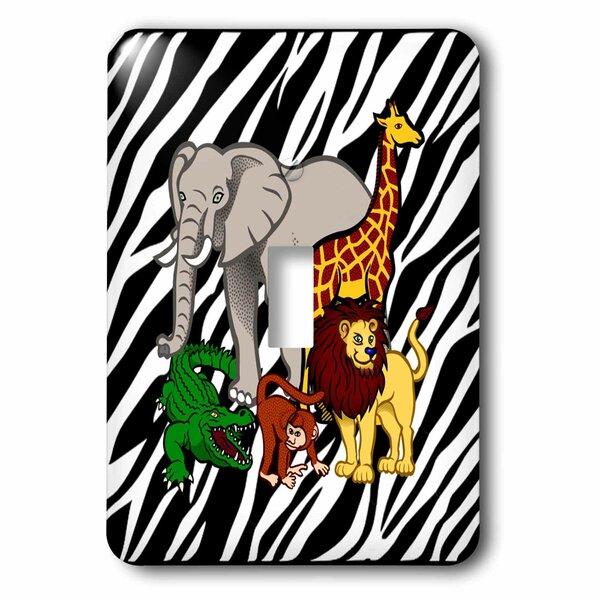 3drose Cartoon Jungle Animals 1 Gang Toggle Light Switch Wall Plate Wayfair