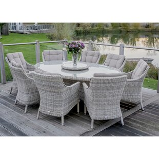 Ridgemoor 8 Seater Dining Set With Cushions By Sol 72 Outdoor