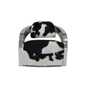 Infinity Cowhide Leather Armchair by Orren Ellis