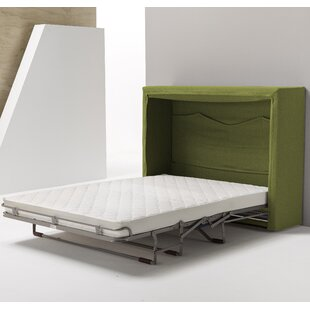Sue FullDouble Upholstered Murphy Bed with Mattress