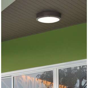 Latitude Run Beckett 1-Light Outdoor Flush Mount
