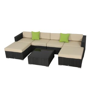 Brayden Studio Millis 7 Piece Sectional Set with Cushions