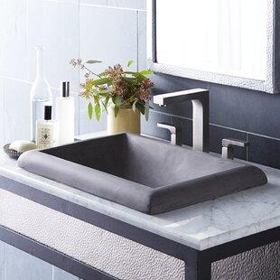 Native Trails, Inc. Montecito Stone Rectangular Drop-In Bathroom Sink