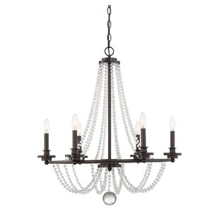Byromville 6-Light Wagon Wheel Chandelier..