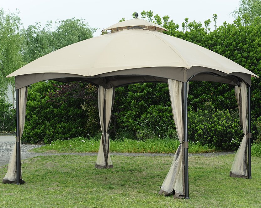 Replacement Canopy for Bellagio Gazebo & Sunjoy Replacement Canopy for Bellagio Gazebo u0026 Reviews | Wayfair