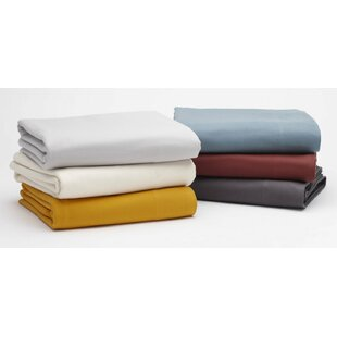 Coyuchi Cloud Brushed Flannel 100% Cotton Flat Sheet