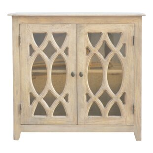 Whitestown Antiqued Mirror 2 Door Accent Cabinet by Bungalow Rose