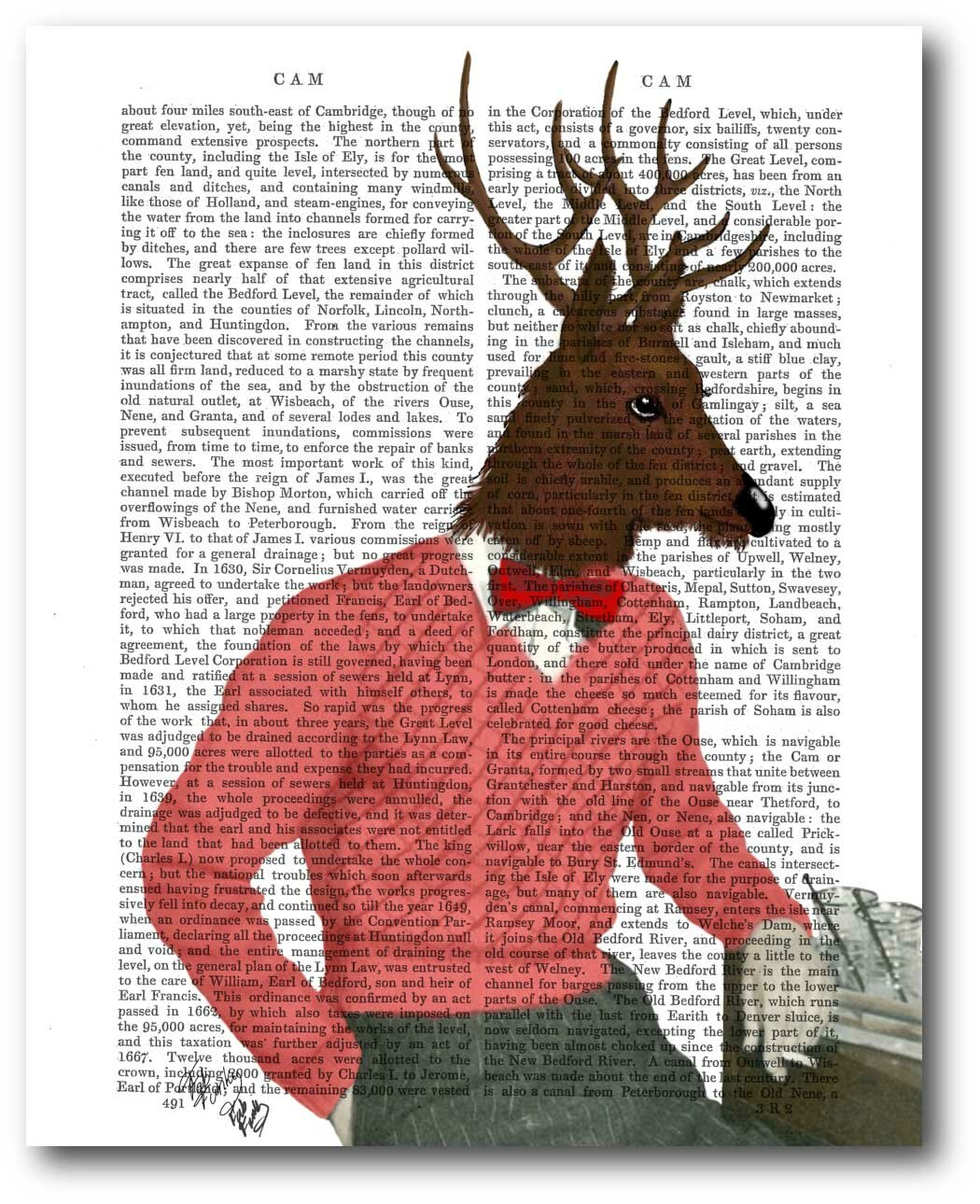Courtside Market Deer At The Bar Graphic Art On Wrapped Canvas Wayfair