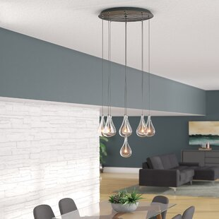 Burntwood 9-Light Pendant by Wade Logan