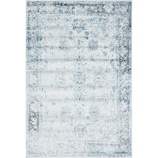 Inexpensive Brandt Light Blue/Ivory Area Rug By Mistana