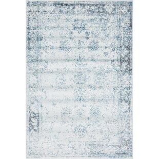 Bargain Brandt Light Blue/Ivory Area Rug By Mistana