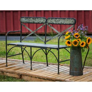 Tilsworth Galvanized Metal Garden Bench