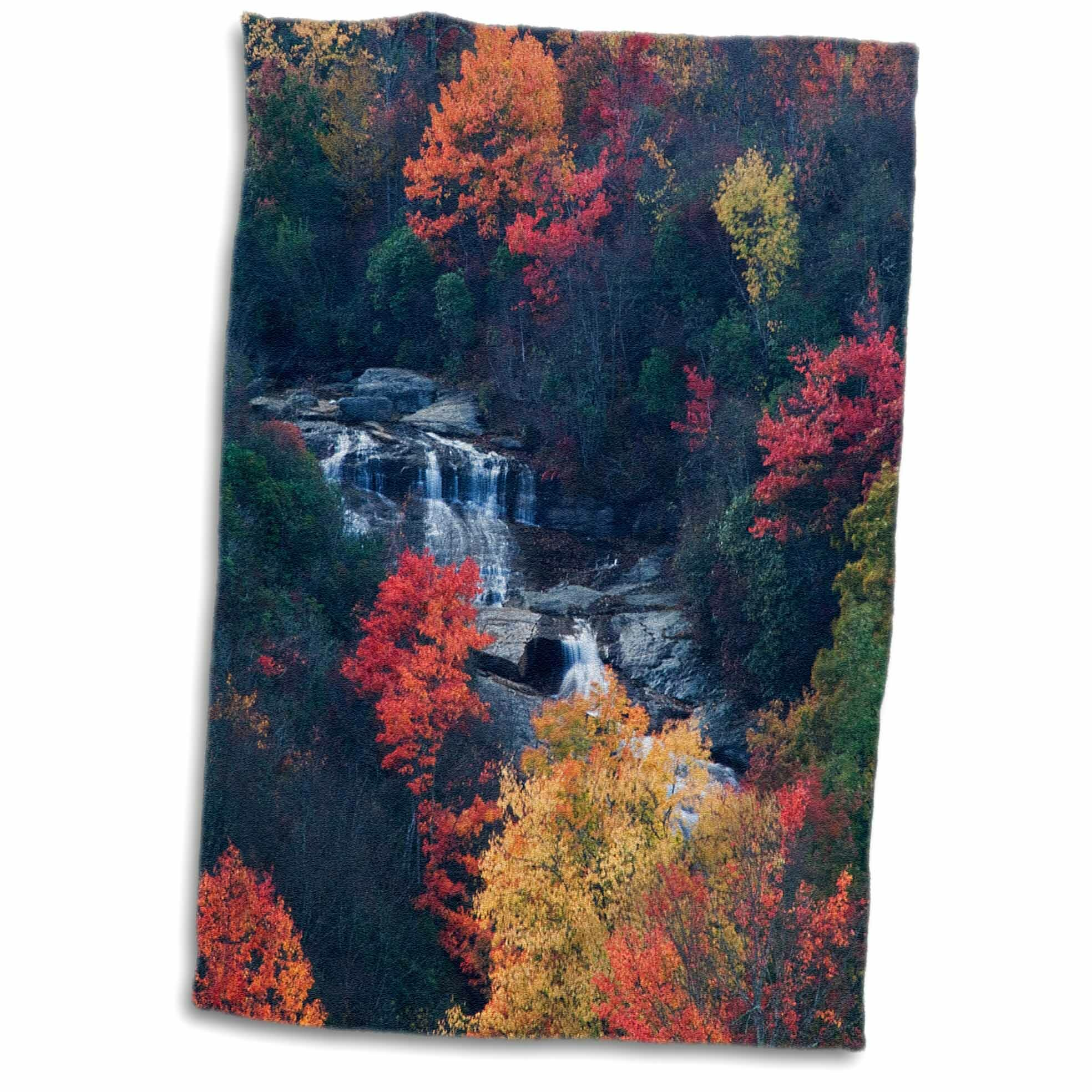 East Urban Home Lesley Usa New York Adirondack Mountains Autumn Trees And Waterfalls Hand Towel Wayfair