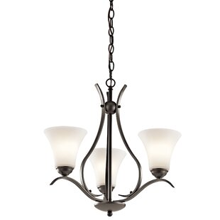 Bourne 3-Light Shaded Chandelier by Alcott Hill