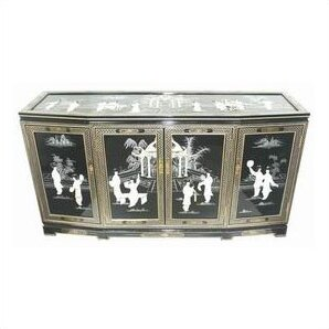 Oriental Furniture Eight Ladies Asian Sideboard