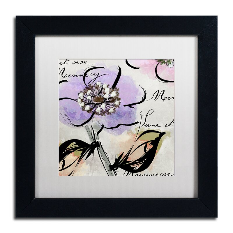 Trademark Art Dogwood Ii By Color Bakery Framed Graphic Art Wayfair