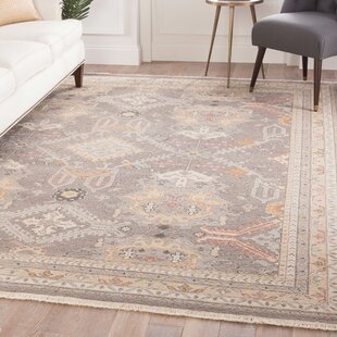 Lake Macquarie Medallion Hand-Knotted Wool Gray Area Rug