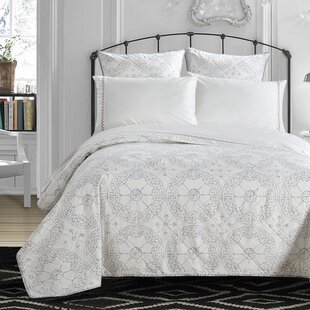 Amias Embroidered 300 Thread Count 100% Cotton Sheet Set By Mistana