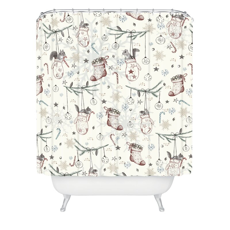 Christmas Shower Curtains You\'ll Love | Wayfair