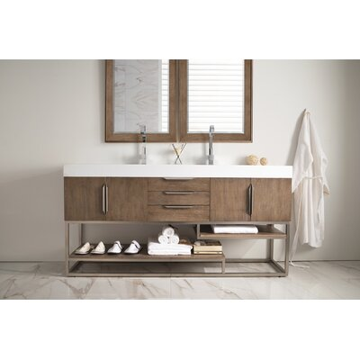 Brayden Studio Hulett 73 Double Bathroom Vanity Set