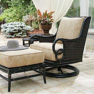 Marimba Swivel Rocker Lounge Patio Chair with Cushion by Tommy Bahama Outdoor