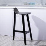 Lefkowski Solid Wood 28 Bar Stool by Gracie Oaks