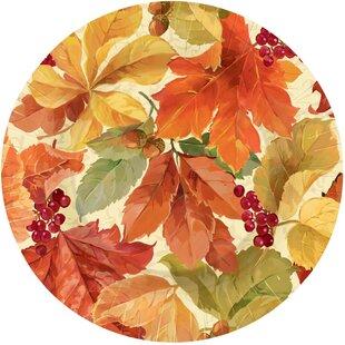 Autumn Elegant Leaves Paper Appetizer (Set of 8)