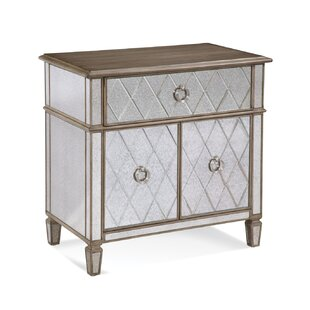 End Table With Glass Door Wayfair