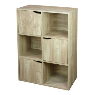 Wood Storage 6 Cube Bookcase b..