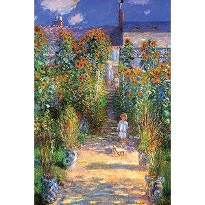 U0027The Artistu0027s Garden At Vetheuilu0027 By Claude Monet Painting Print. U0027