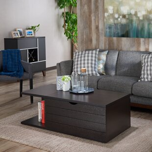 Leesport Transitional Coffee Table with Magazine Rack Latitude Run