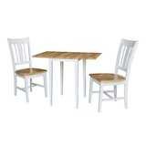 Banes 3 Piece Solid Wood Dining Set by Red Barrel Studio®