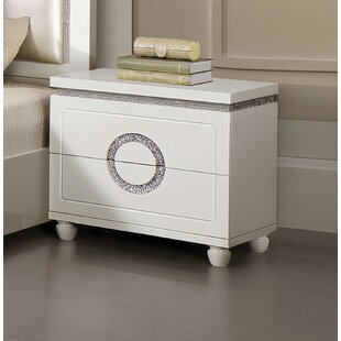 Best Reviews Krueger 2 Drawer Nightstand by Orren Ellis