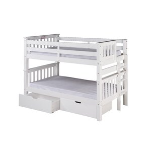 Lindy Mission Twin over Twin Bunk Bed with Storage ByHarriet Bee