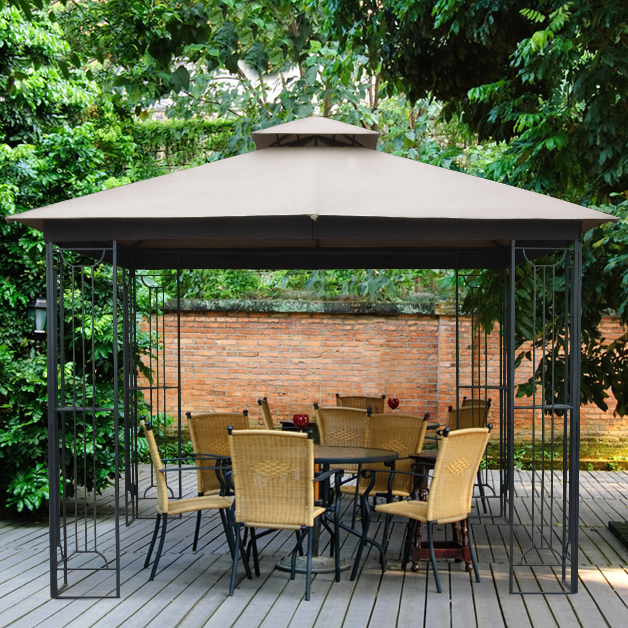 Arlmont Co Foote Soft Top 10 Ft W X 10 Ft D Steel Patio Gazebo Reviews Wayfair